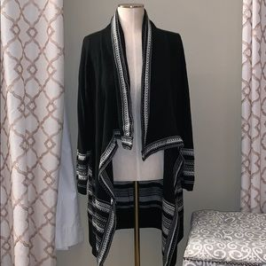 New York & Co Black and White Cape Cardigan